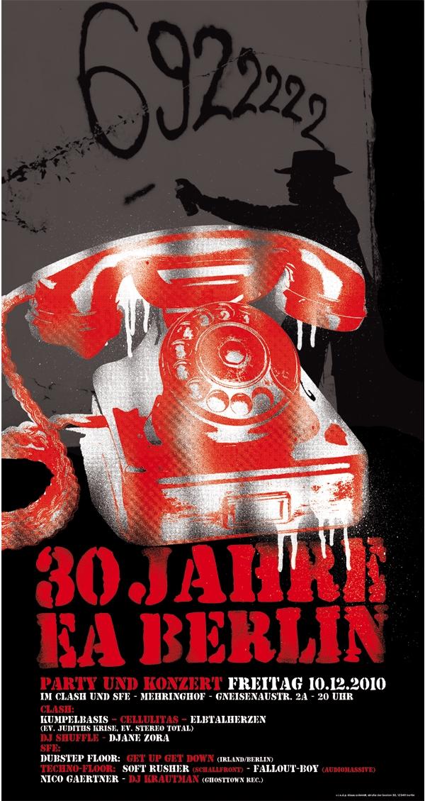 Der EA Berlin feiert Geburtstag! Am 10.12. im Mehringhof!